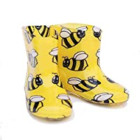 Kids Baby Child Toddler BUSY BEE PVC Funky Wellies Wellington UK5