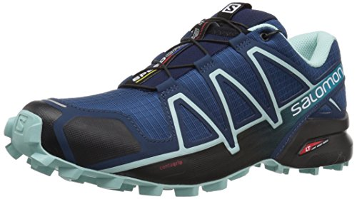 Salomon Speedcross 4 W, Scarpe da Trail Running Donna Blue Jay/Black 38 Poseidon