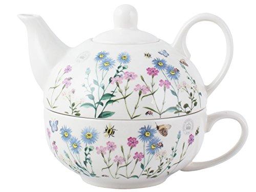 Teekanne, Verschiedene Designs von Royal Botanical Gardens, Keramik, beige, Tea for One Design-teekanne