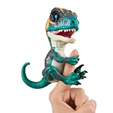 Untamed Raptor by Fingerlings - Fury (Turquoise) - Interactive Collectible Baby Dinosaur - By WowWee