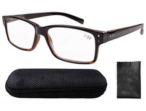 Eyekepper 5-Pack Qualità della molla Cerniere Wood Arms delle donne degli uomini occhiali da lettura Incluso occhiali computer +0.75 Fer8PV