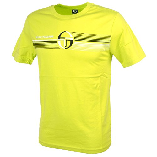 Sergio Tacchini-Alan Lima MC Tee-Tee Shirt Maniche Corte, verde anice, M