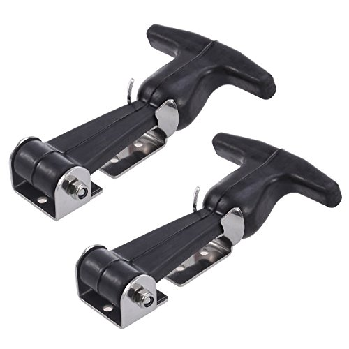 Preisvergleich Produktbild ueetek 2pcs Flexible t-handle Draw Verschlüsse Edelstahl t-handle Hasp für Golf-Trolley und Werkzeugkasten