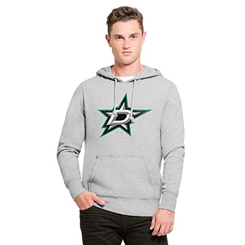 Fleece-screen-print Sweatshirt ('47 Knockaround Hoodie NHL Sweatshirt, Größe:M;NHL Teams:Dallas Stars)