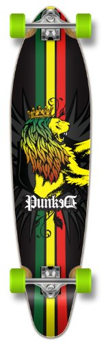 Yocaher Punk Graphic Kicktail komplett Longboard Skateboard,