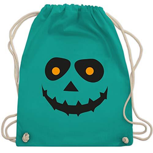 Halloween - Gruseliges Gesicht Fasching - Unisize - Türkis - WM110 - Turnbeutel & Gym Bag (Gruppe 2019 Kostüme Halloween)