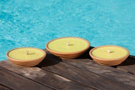 Fiaccole in coccio Ø15 cm durata 6 ore Citronella confezione da 36 pezzi