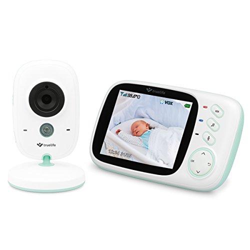"""Video Babyphone TrueLife NannyCam H32,Überwachung Digital Video-Kamera für Ihr Baby,farbiges 3,2\"""" LCD-Display,Zimmerthermometer, Nacht-Modus,8 Melodien,VOX-Regime,Akkus 24Stunden, drathlos Kamera"""