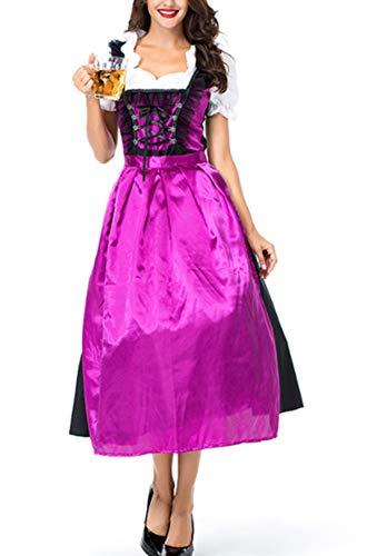 Mitef - grembiule da donna oktoberfest, sexy, gonna violet m
