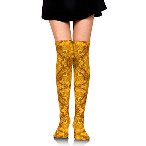 Gold Toe Outlet (Alchemy Jewels (Gold) Compression Socks Foot Long Stockings Knee High Socks for Men Women Supports Sport Running Cycling Football Slim Leg Travel Medical Nursing)