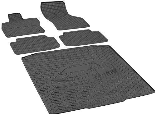Passende Gummimatten und Kofferraumwanne Set geeignet für Skoda Octavia III Kombi ab 2013ein Satz