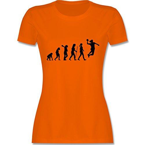 Evolution - Handball Evolution - tailliertes Premium T-Shirt mit Rundhalsausschnitt für Damen Orange