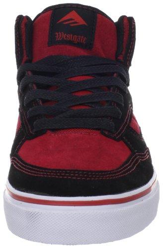 Emerica The Westgate, Baskets mode homme Black - Schwarz (black/red/white 090)