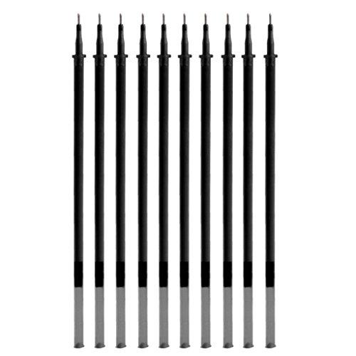 Fafalloagrron Gelschreiberminen, 0,5 mm, radierbar, 10 Stück Total length: 13cm(5.12in) Schwarz