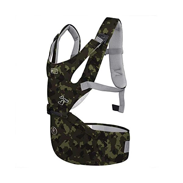 "BeeViuc Front Premium Hipseat Baby Carrier for Newborn, Baby Sling, Multifunctional, Ergonomic, 100% Cotton, Butterfly Rotary Buckle, 6 Carrying Positions - Camouflage Green BeeViuc Ultimate Comfort For Baby - The Baby Carrier is Used Soft Classical Cotton With Polyester Touching. Suit For Baby Who is Between 3-36 Months and 0-20 KG. Ultimate Comfort For Parents - An adjustable Velcro Waist Strap That Puts Some Of The Weight On Your Hips. Ultra Extand And Soft Padded Shoulder Straps For The Best Comfortable For All Parents. Baby Hip Healthy - Enable Your Baby To Be Seated in An Optimal Natural ""M Shape"" Position From Newborn To Toddler. The Carrier Has Been Acknowledged As a ""Hip-Healthy"" Product By The International Hip Dysplasia Institute. 2"