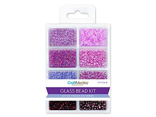 Multicraft Imports Glas Bead Kit 45Gramm/pkg-viola (Kit Making Bead)
