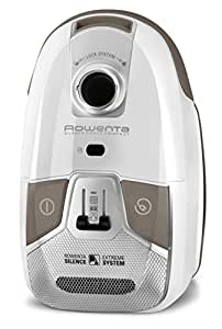Rowenta RO6327EA Aspirateur avec Sac Silence Force Compact 4A AAAA Silencieux 68dB Hygiène+ 750W Blanc Neige