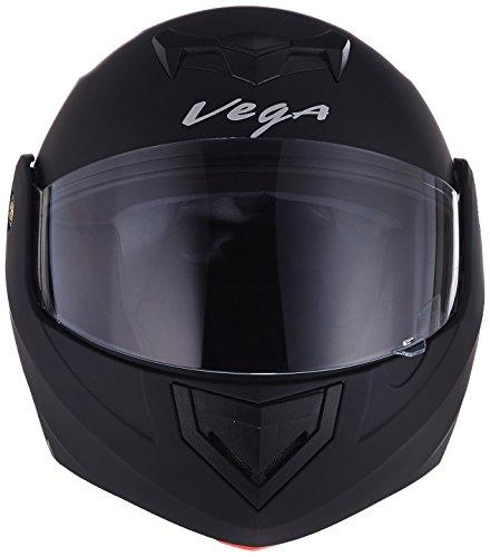 Vega Crux DX Flip-Up Helmet (Dull Black, M)