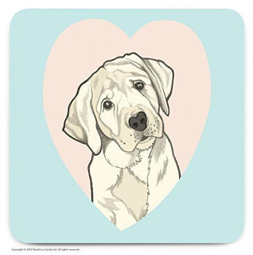 Le cadeau idéal pour les amateurs de 'Labrador' Chien. – mignon Cœur fantaisie Dessous-de-verre