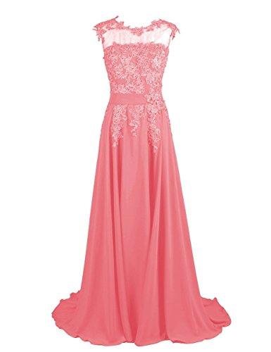 Fanciest -  Vestito  - linea ad a - Donna rosso corallo