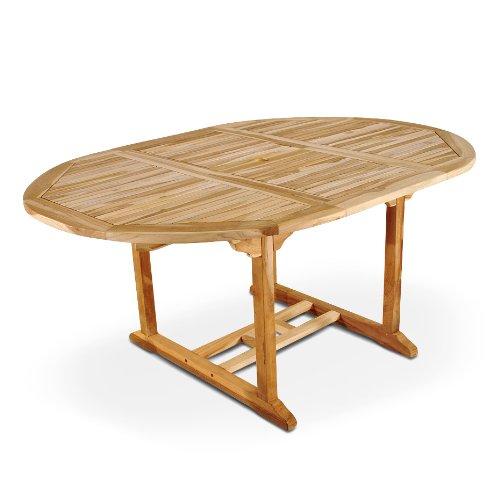 Großer Ovaler Tisch (SAM Gartentisch Aruba ovaler Ausziehtisch, Teakholz massiv)