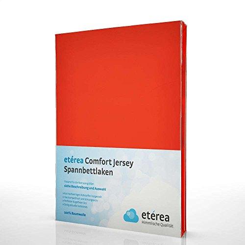 etérea Comfort Jersey Spannbettlaken - in viele Farben und alle Größen - 100% Baumwolle, Grenadine 140x200 - 160x200 cm