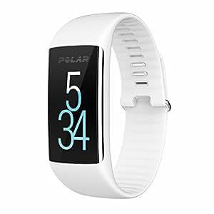 Polar A360 Fitness Activity Tracker Monitoraggio Attività Fisica con Cardiofrequenzimetro Integrato, Display Touch Screen, Taglia S (130-170 mm), Bianco