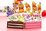 CUP CAKES Juego de 24 Palos de Winnie The Pooh para decoración de Mesa de Fiesta de cumpleaños