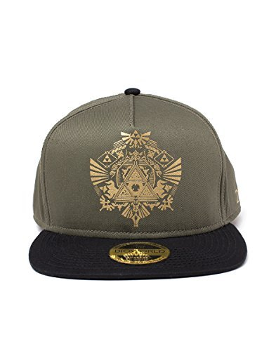 Zelda Unisex Nintendo Legend of Golden Tri-Force Logo Print Snapback Baseball Cap, Green/Black (SB055205ZEL), Green (Green Green), One size