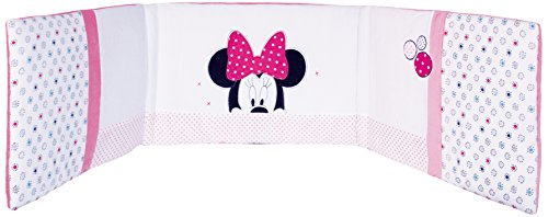 Babycalin - Paracolpi per lettino, tema: Minnie Disney, motivo Patchwork, dimensioni 40 x 180 cm, colore: Rosa