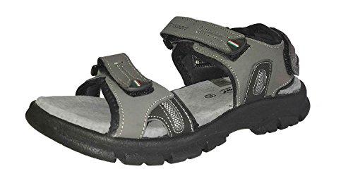 Grisport comodo da uomo outdoor sandalo con cinturino regolabile e profilo di suola outdoor, uomo, grigio, 42