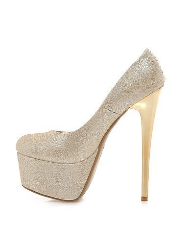 ShangYi Schuh Damenschuhe - High Heels - Hochzeit / Büro / Kleid / Lässig / Party & Festivität - Vlies / Kunstleder - Stöckelabsatz - Absätze / Plateau Silver