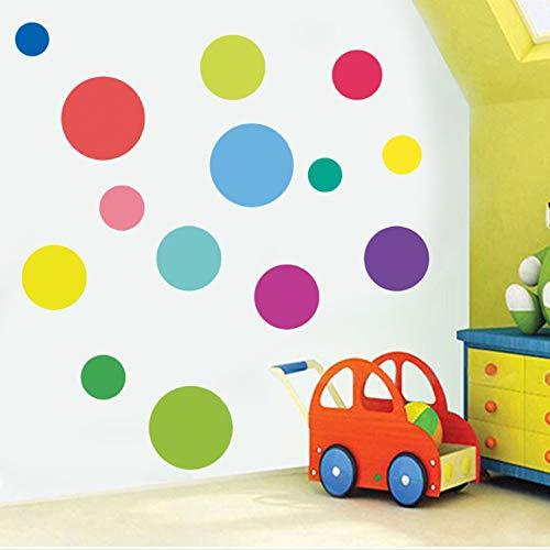 Huangyuzzzz adesivo murale camera dei bambini nursery background mix size carta da parati a pois colorati poster colore a punto tondo adesivo murale arte decorativa