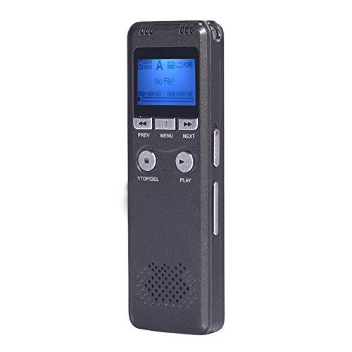 Voice-activated Mini-recorder (comaie Voice Recorder, digital Audio Recorder 8GB MP3Player Diktiergerät, Stimme aktiviert Aufnahme doppelt Mikrofon)