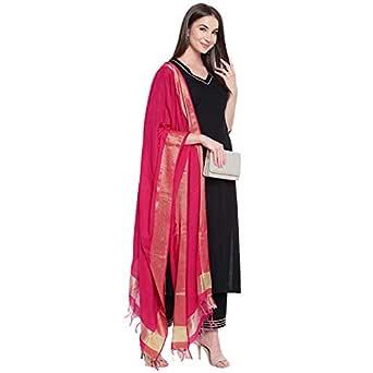 Khushal K Women's Rayon Straight Salwar Suit Set (KK-311-Black-S_Black_Small)