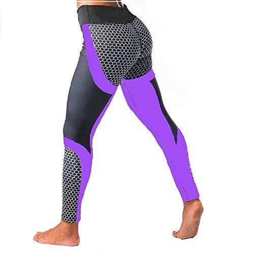 Ducomi MEG Leggings Sportivi per Donna - Vita Alta Snellente e Push Up sui Glutei per Silhouette Slanciata Curve Sensazionali - Leggins Praticità e Sensualità per Yoga, Pilates e Palestra (Purple, S)