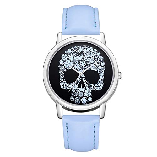 JiaMeng Banda de Reloj de Pulsera de Cuarzo analógico de Lujo Banda de Cuero de Moda Relojes(F,tamaño Libre)