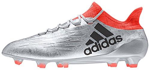adidas X 16.1 FG Botte di calcio da Uomo, taglia 44 2/3, colore Argentato