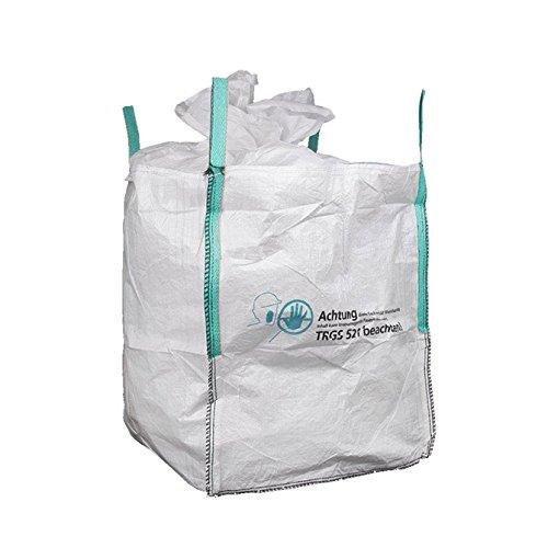 Preisvergleich Produktbild 80 Stück Bigbags für Mineralwolle 0, 9 cbm 90x90x110cm SWL 150kg KMF Warnhinweis