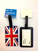 Luggage Tag Strap Address Label Name Suitcase Bag Union Jack Print I Love London