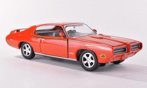 pontiac-gto-judge-arancio-1969-modello-di-automobile-modello-prefabbricato-motormax-124-modello-escl