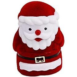 Collar Anillo Pendientes Caja de Exhibición Caja de Almacenamiento Santa Decoración Regalo de Navidad Caja de Joyería