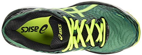 Asics Gel-Nimbus 18, Scarpe da Corsa Uomo Verde (Pine/Flash Yellow/Black)