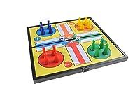 Magnetisches Brettspiel (kompakte Reisegröße): Ludo - magnetische Spielsteine, Spielbrett zusammenklappbar, 19cm x 19cm x 1cm, Mod. SC6620 (DE)
