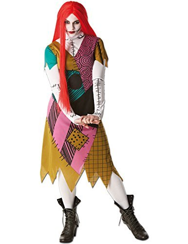 Rubie's Offizielles Nightmare Before Christmas Sally-Kostüm, für Erwachsene, Größe L