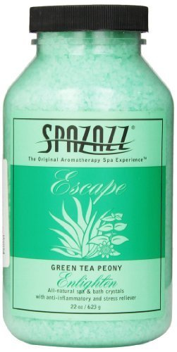 spazazz-spz-109-escape-aromatherapy-crystals-container-22-ounce-green-tea-peony-enlighten-by-spazazz