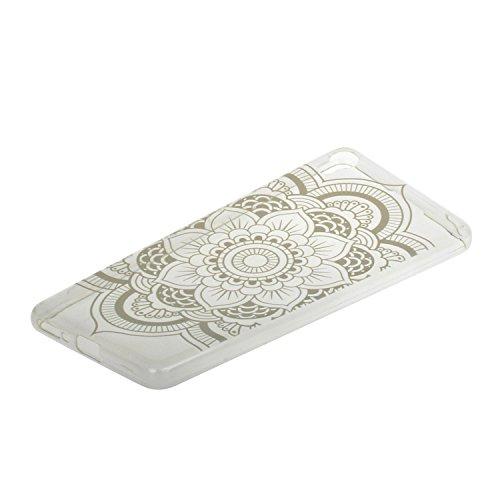 Voguecase® für Apple iPhone 7 4.7 hülle, Schutzhülle / Case / Cover / Hülle / TPU Gel Skin (Lace Blume 02) + Gratis Universal Eingabestift Lace Feder