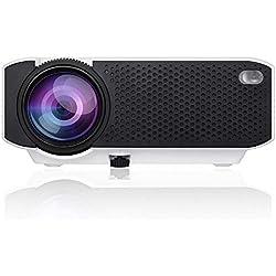 ZUHN Vidéoprojecteur Portable LCD À La Maison Projecteur Multimédia HD De Lecteur Multimédia Compatible avec HDMI/USB/VGA/TF/AV, Prise en Charge D'android Et du Système iOS