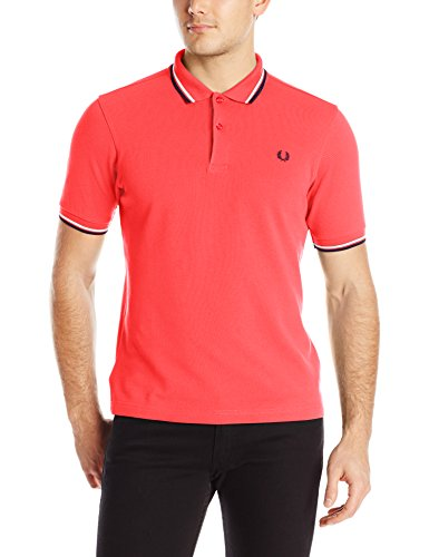 Fred Perry Herren Poloshirt M3600-a57 mehrfarbig (Tropical Red / Lavender / Carbon)