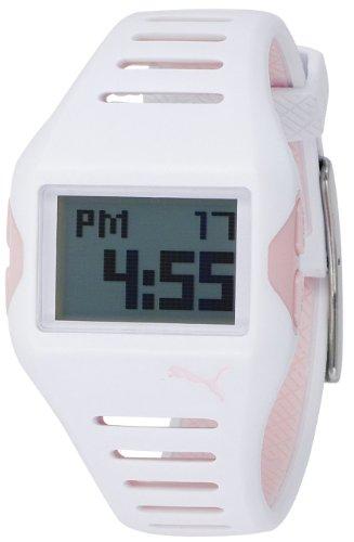 Puma - 4404793 - Montre Femme - Quartz Digital - Cadran Blanc - Bracelet Caoutchouc Blanc